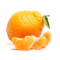 Ugly tangerine on a white background Royalty Free Stock Photography