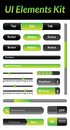Ui elements kit green this is a nice simple and elegant pack of vector user interface suitable for your graphic and web projects Royalty Free Stock Photo
