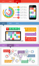 Ui infographics and web elements including flat d design eps vector illustration Stock Photography