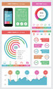 Ui infographics and web elements including flat d design eps vector illustration Stock Photo
