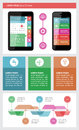 Ui infographics and web elements including flat d design eps vector illustration Stock Images