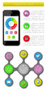 Ui infographics and web elements including flat d design eps vector illustration Stock Photos