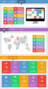 Ui infographics and web elements including flat design eps vector illustration Stock Photos