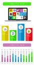 Ui infographics and web elements including flat design vector illustration Stock Photography