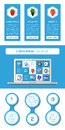 Ui infographics and web elements including flat design vector illustration Royalty Free Stock Photo