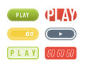UI interface button play media internet isolated website online concept element sign and online tube player approved