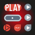 UI interface button play media internet website online concept element sign and online tube player approved