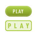 UI interface green button play media internet isolated website online concept element sign and online tube player