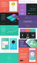 Ui is a set of components featuring the flat design trend Royalty Free Stock Photo