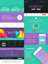 Ui is a set of components featuring the flat design trend Royalty Free Stock Photography
