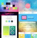 Ui is a set of components featuring the flat design trend Royalty Free Stock Images