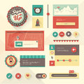 Ui set vector of various elements used for user interface projects Royalty Free Stock Photo
