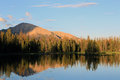 Uinta reflection sunset in the mountains utah usa Stock Photo