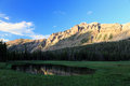 Uinta reflection sunset in the mountains utah usa Royalty Free Stock Photo