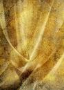 Uitstekend gouden gordijn Royalty-vrije Stock Afbeeldingen