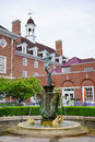 Uiuc campus building and statue a red brick illini union in the quad of university of illinois urbana champaign the illini union Royalty Free Stock Photography