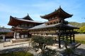 Uji kyoto japan famous byodo in buddhist temple a unesco world heritage site phoenix hall building Royalty Free Stock Photography