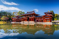 Uji kyoto japan famous byodo in buddhist temple a unesco world heritage site phoenix hall building Stock Photo