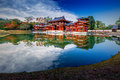 Uji, Kyoto, Japan - famous Byodo-in Buddhist temple Royalty Free Stock Photo