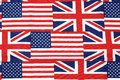 Uk and american flag background Stock Photos