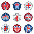 Uk badges Royalty Free Stock Image