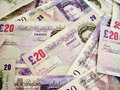 Uk banknotes Stock Image