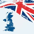 UK or British map with flag Royalty Free Stock Photo