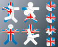UK collection of peeling stickers Stock Images