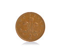 UK copper two pence coin Stock Photography