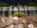 UK economy gamble Royalty Free Stock Photography