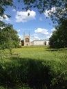 Uk england cambridgeshire cambridge view of university at Royalty Free Stock Photography