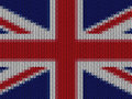 UK English flag in knitting pattern Royalty Free Stock Photo