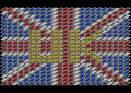 Uk flag abstract of united kingdom Stock Image