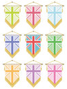 Uk flag pennants Stock Images