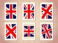 UK Flag Stamp Royalty Free Stock Photos