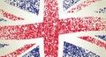 UK flag, wavy Royalty Free Stock Image