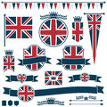 Uk flags and ribbons Stock Image