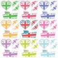 Uk hearts and ribbons Royalty Free Stock Photo