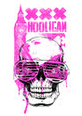 Uk hooligan vector illustration ideal for printing on apparel clothes Royalty Free Stock Photography