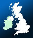 UK and Ireland map Stock Photo