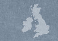 UK map on textured background Royalty Free Stock Photography