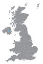 UK vector map with subdivisions Royalty Free Stock Photo