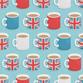 Uk mug pattern Royalty Free Stock Image