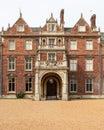 UK Norfolk Sandringham Estate 2019 April 23: East Front Entrance Detail of the house Sandringham House.
