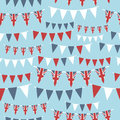 Uk party bunting Royalty Free Stock Photo