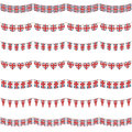 Uk party bunting Royalty Free Stock Photos