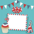 Uk party card Stock Photo