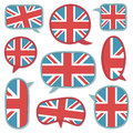 Uk speech bubbles Stock Photo