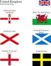 UK Sub National Flags Royalty Free Stock Images