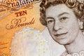 UK ten pound notes Royalty Free Stock Photo